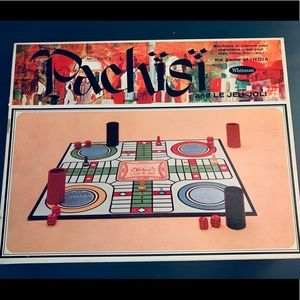Vintage India Pachisi Boardgame 60s EUC All Pieces